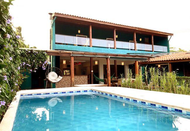 Casa em São Sebastião - Casa linda com Piscina e WIFI em Camburi